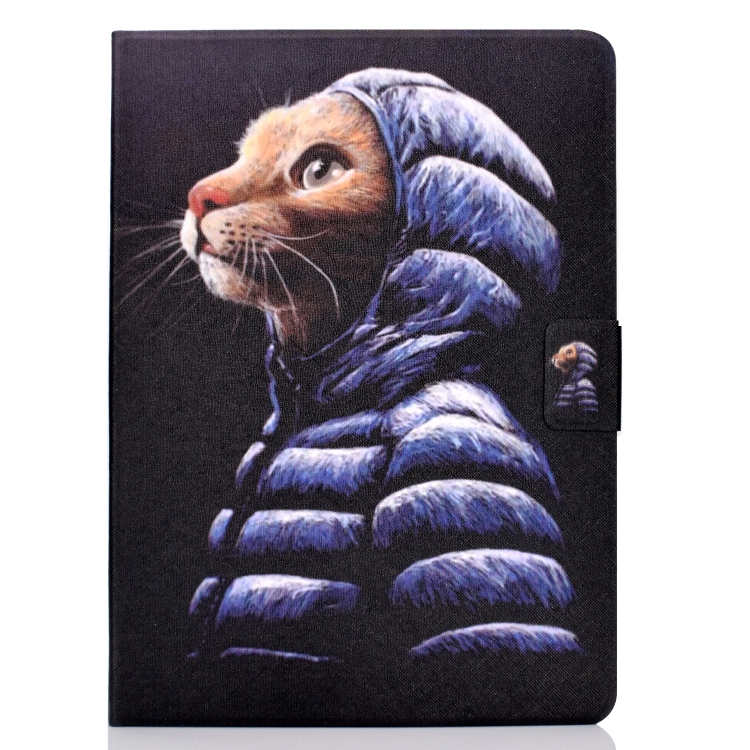 Чехол-книжка с артом кота для Айпад Аир 4 10.9