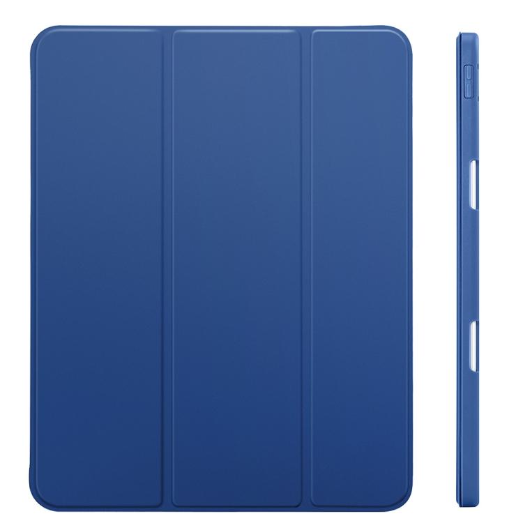 Кожаный чехол-книжка синего цвета для Айпад Про 11