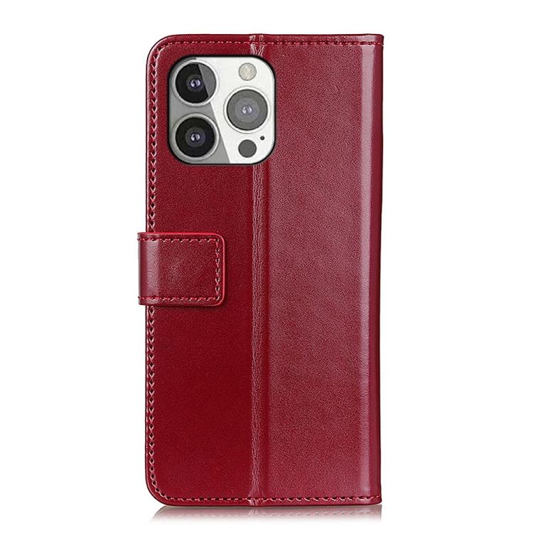 Вино-красно чехол-книжка с магнитной защелкой на Айфон 13 Про