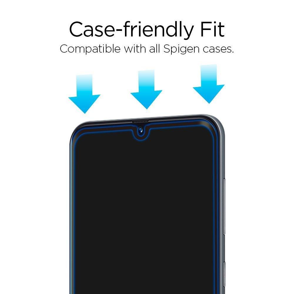 Каленое стекло SPIGEN GLASS FC для Samsung Galaxy A50/A50s/A30S Black