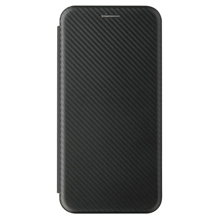 Чехол-книжка Carbon Fiber Texture на Xiaomi Mi 11 - черный
