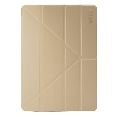 Кожаный Чехол ENKAY Lambskin Texture + Silicone Sleep Function золотой для iPad  Air 2019/Pro 10.5