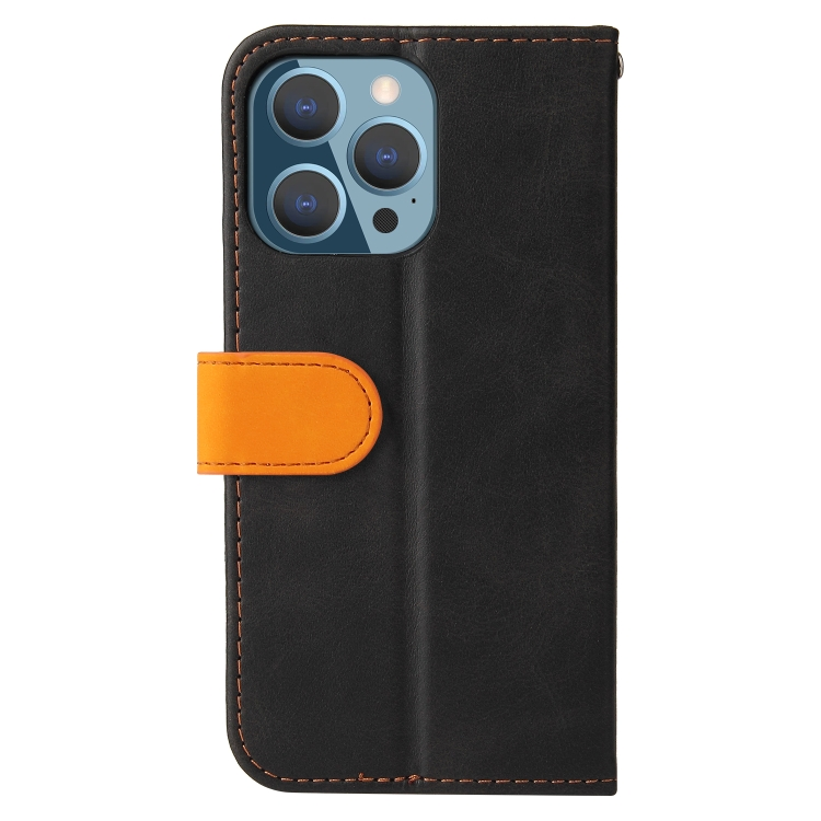 Чехол-книжка для Айфон 13 Pro - оранжевый