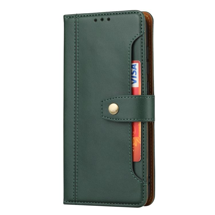 Зеленый кожаный чехол-книжка для Сяоми Редми Нот 9