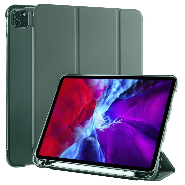 Чехол-книжка 3-folding Horizontal Flip для iPad Pro 11 2020 / iPad Pro 11 2018/Air 2020- зеленый