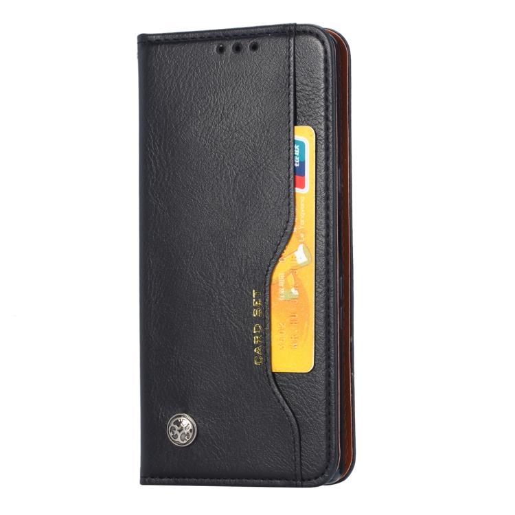 Чехол-книжка Knead Skin Texture на Xiaomi Mi 11 Lite - черный