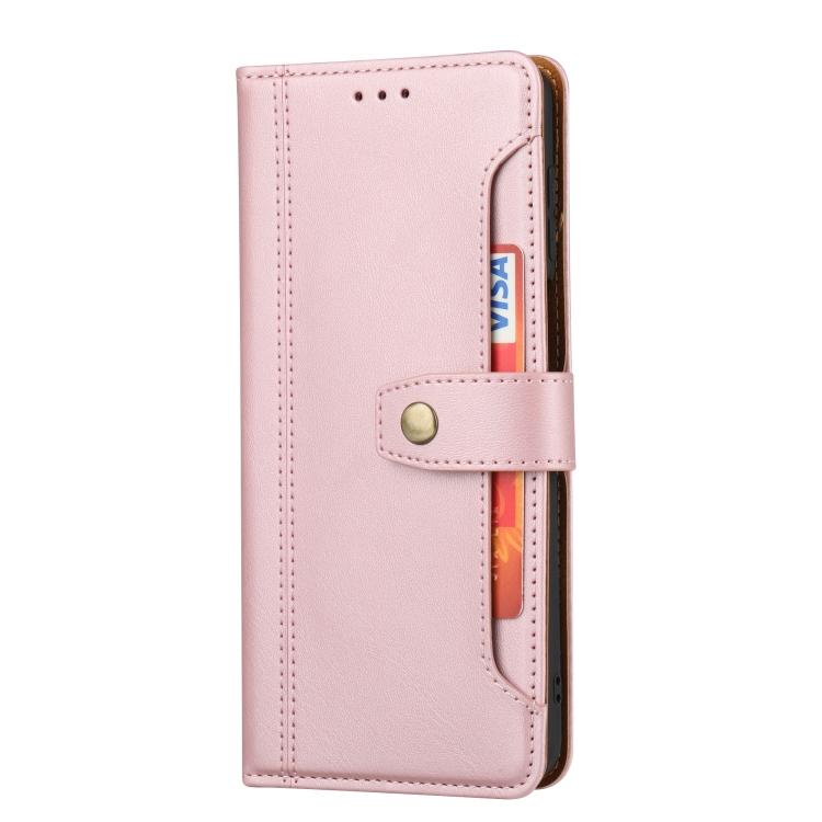 Розовый кожаный чехол-книжка для Сяоми Редми Нот 9 Про