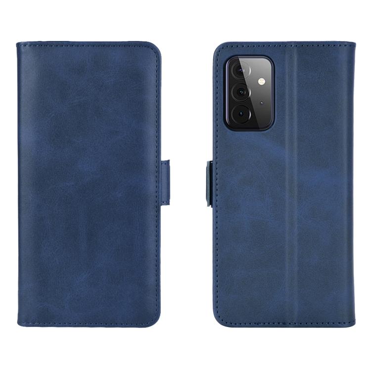 Чехол-книжка Dual-side Magnetic Buckle для Samsung Galaxy A72 - синий