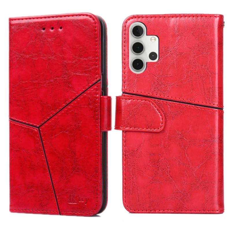 Красный чехол-книжка с подставкой для Галакси A32
