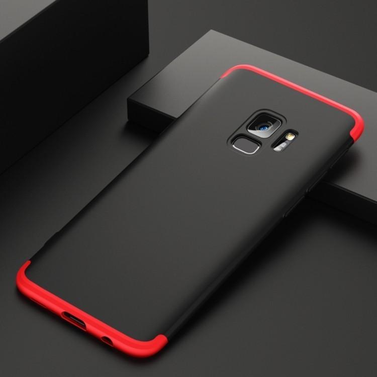 3D  чехол GKK на Samsung  Galaxy S9/G960- черно-синий
