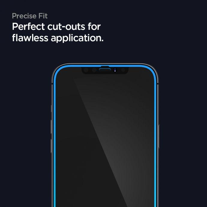 Оригинальное каленное защитное стекло Spigen Tr Slim HD для iPhone 12 Pro / iPhone 12 Black