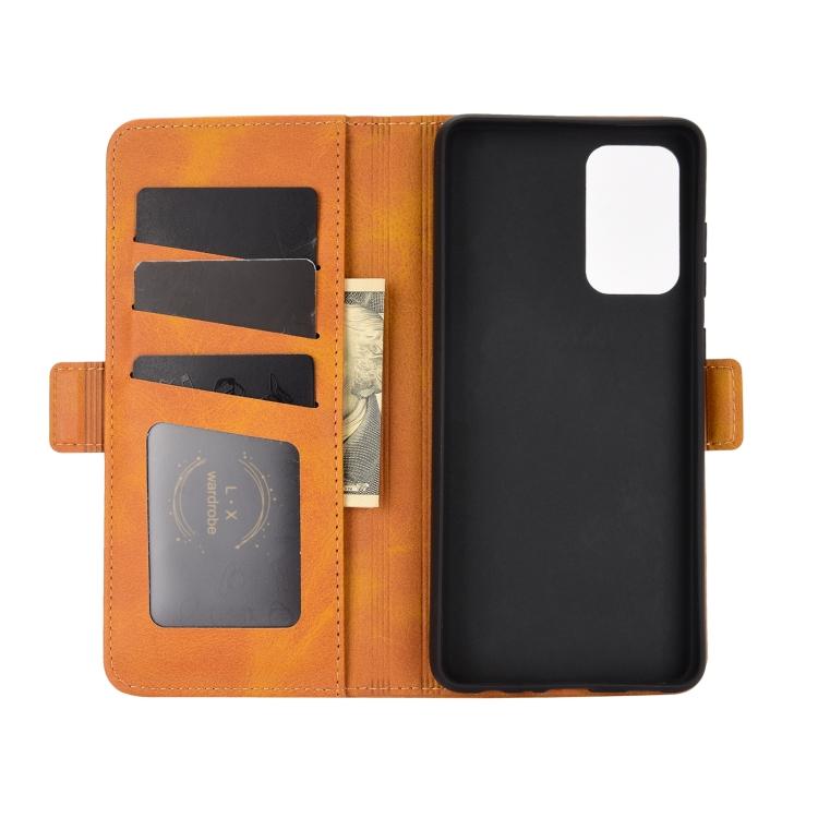 Чехол-книжка Dual-side Magnetic Buckle для Самсунг  A72 - желтый
