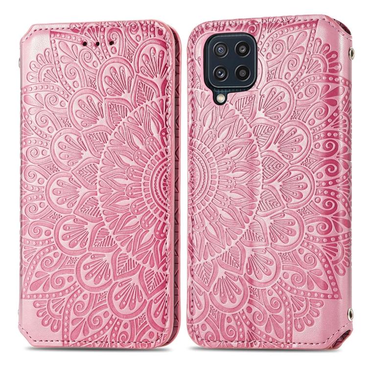 Чехол-книжка Blooming Mandala для Samsung Galaxy M32 - розовый
