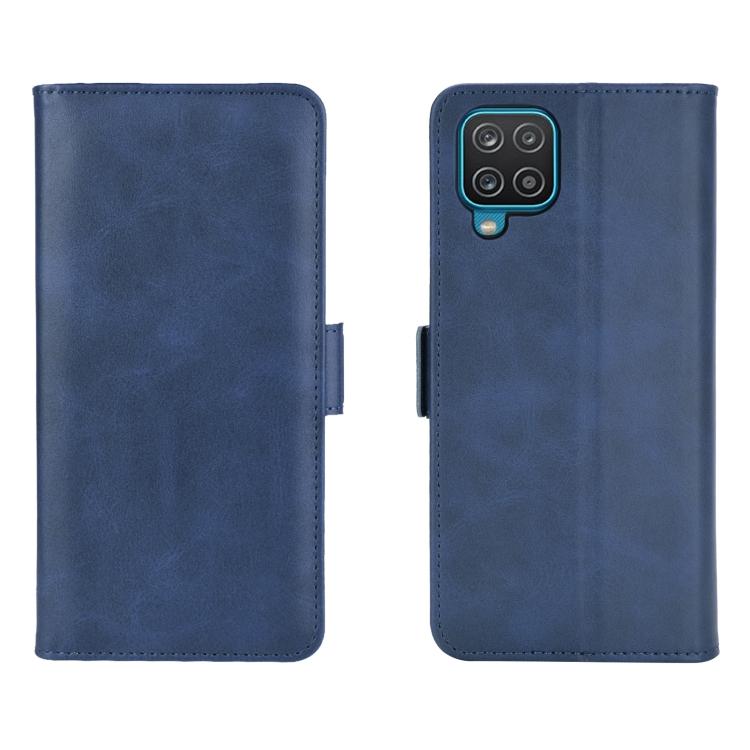 Синий чехол-книжка для Самсунг Гелекси А12