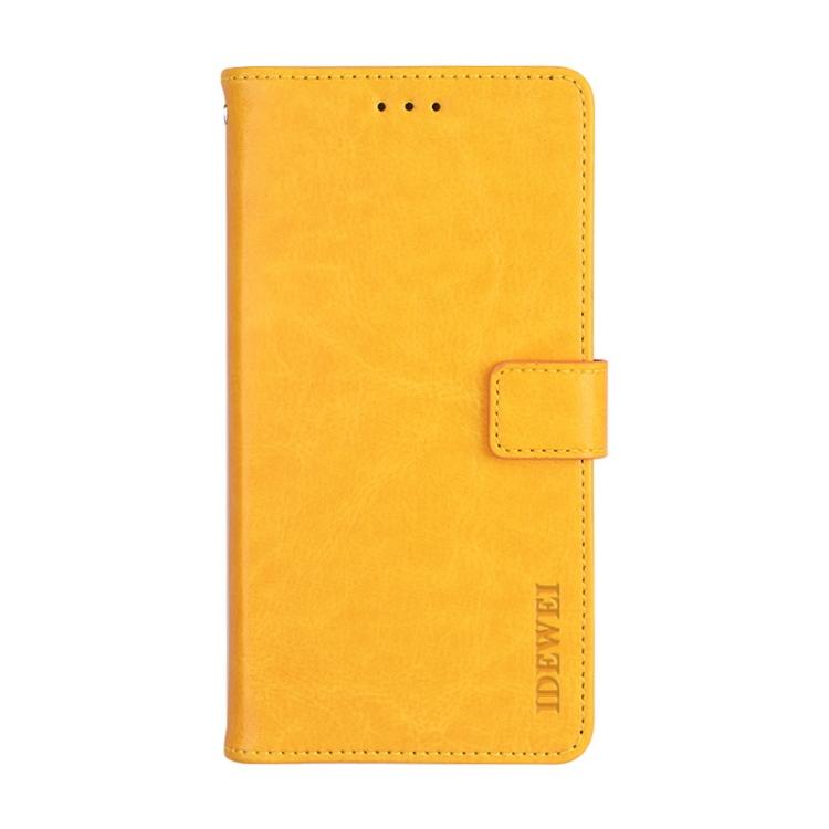Желтый чехол-книжка idewei Crazy на Xiaomi Mi 11 Ultra