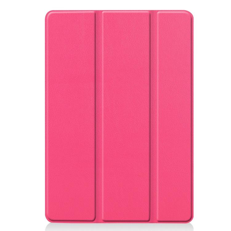 Чехол Custer Texture Three-folding Sleep/Wake-up на iPad 8/7 10.2 (2019/2020) Розово-красный