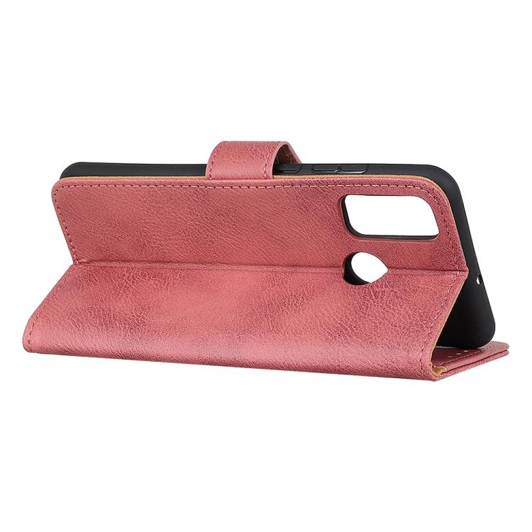 Кожаный чехол-книжка розового с складной подставкой на Самсунг Гелекси М51