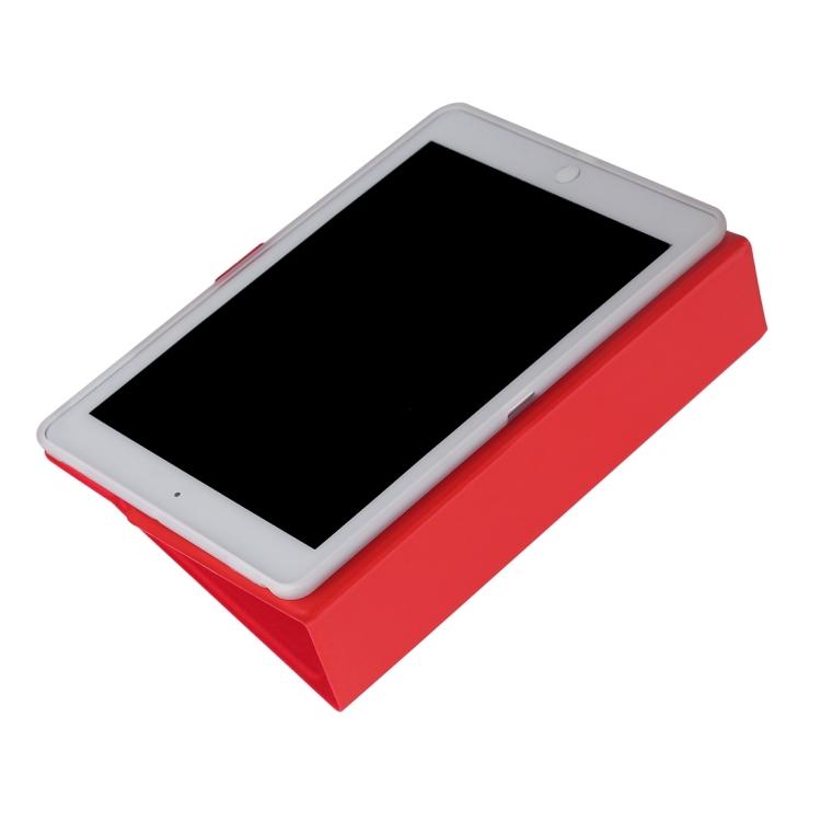 Защитный ударостойкий чехол-книжка для Айпад Аир 2 красного цвета