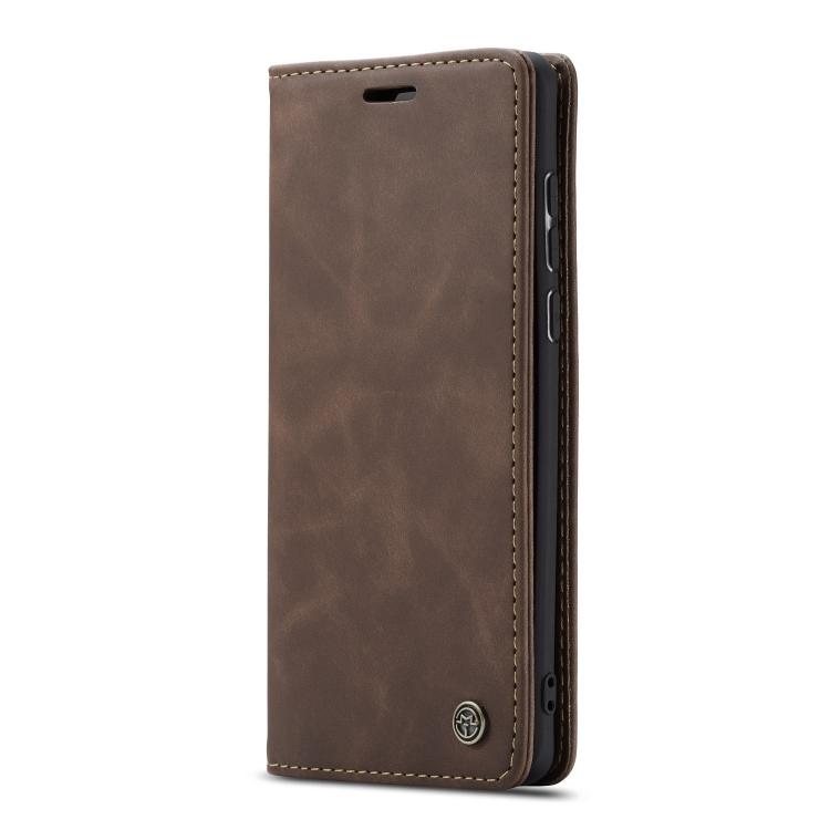 Кофейный чехол-книжка коричневого цвета для Самсунг Гелекси А71