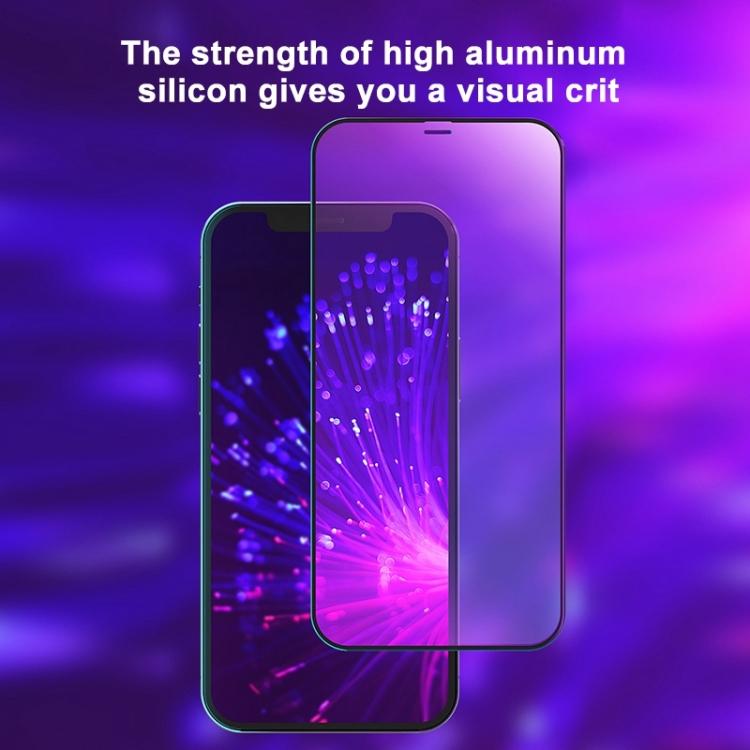 Защитное антибактериальное стекло на Айфон 12 Pro Max - черное