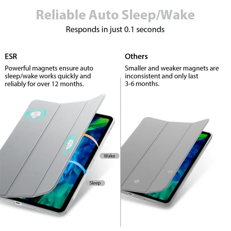 Чехол-книжка ESR Rebound Series на iPad Pro 11 (2020) - серебристый