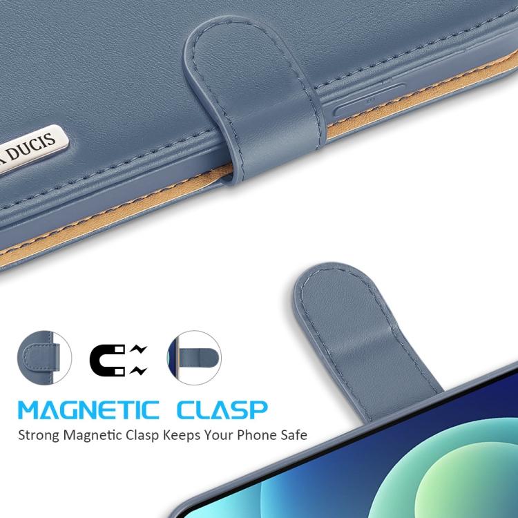 Синий чехол с магнитной защелкой для Айфон 12