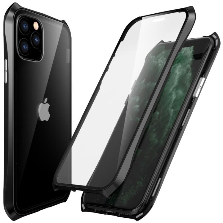 Двусторонний магнитный чехол Magnetic  Shell Series Айфон 11 Про Макс - черный