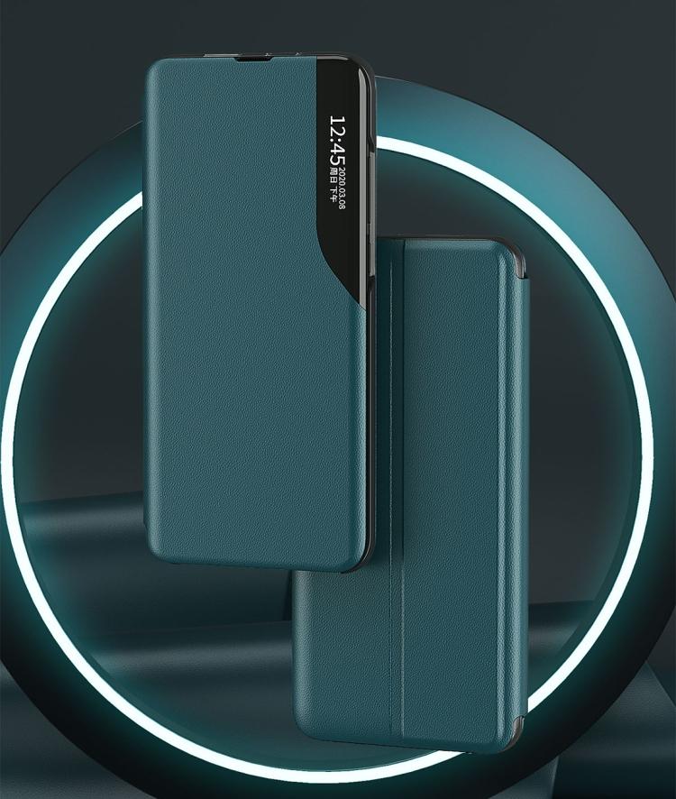 Кожаный чехол-книжка зеленого цвета  для Сяоми Редми 9Ц