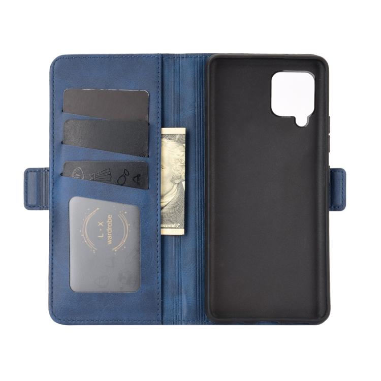 Чехол с слотами для кредиток синий на Самсунг Гелекси А42