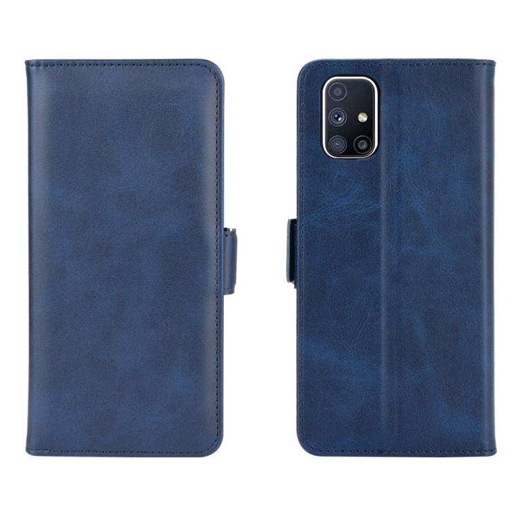 Чехол-книжка Dual-side Magnetic Buckle для Samsung Galaxy M51 - синий