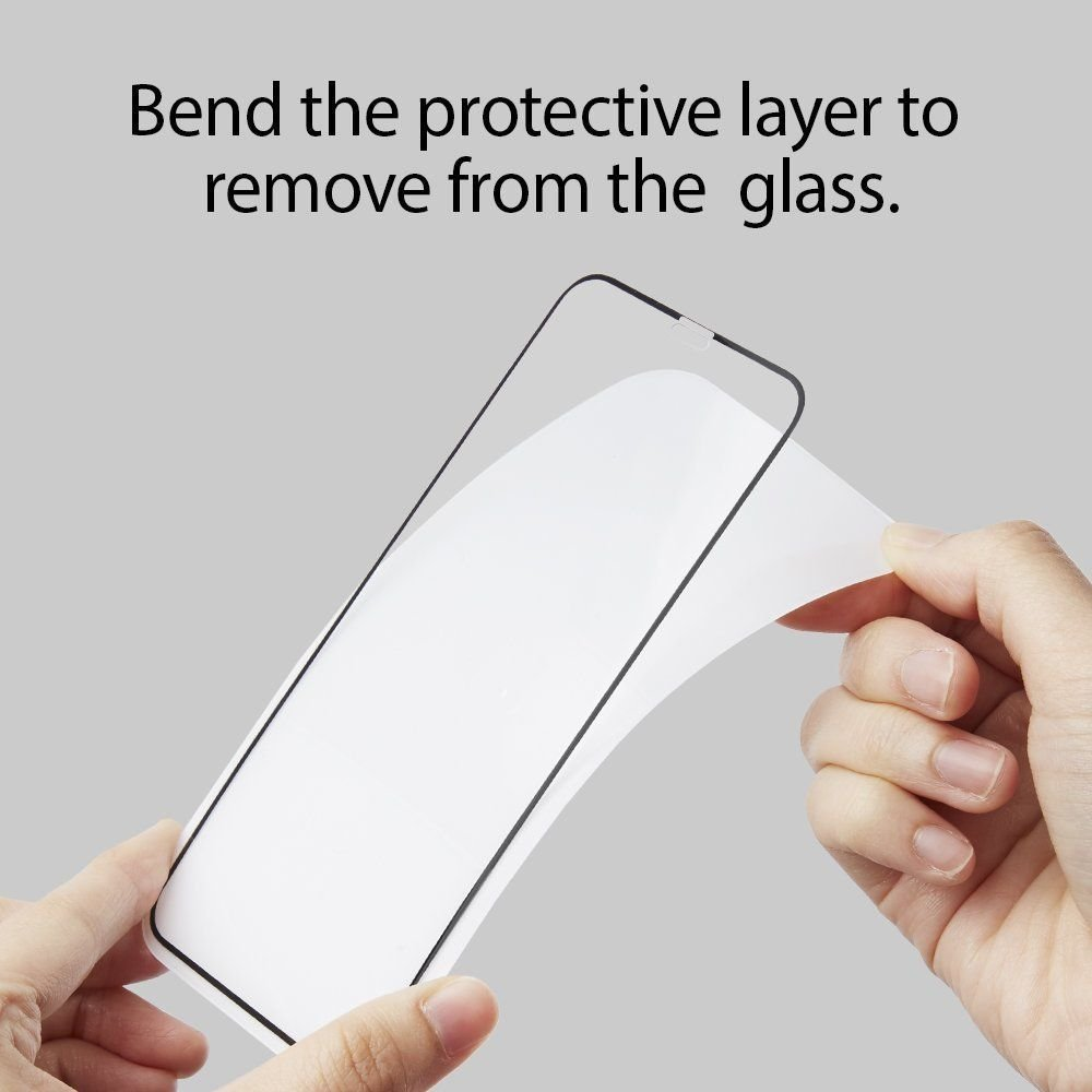 3d каленое защитное стекло Spigen Glass Fc для IPhone 11 Pro/X/Xs Black
