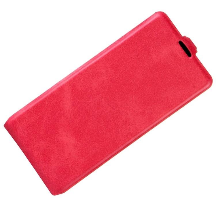 Кожаный флип- чехол на Samsung Galaxy S8/G950-пурпурно-красный