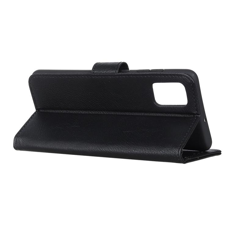 Черный чехол-книжка с складной подставкой на Самсунг Гелекси А41