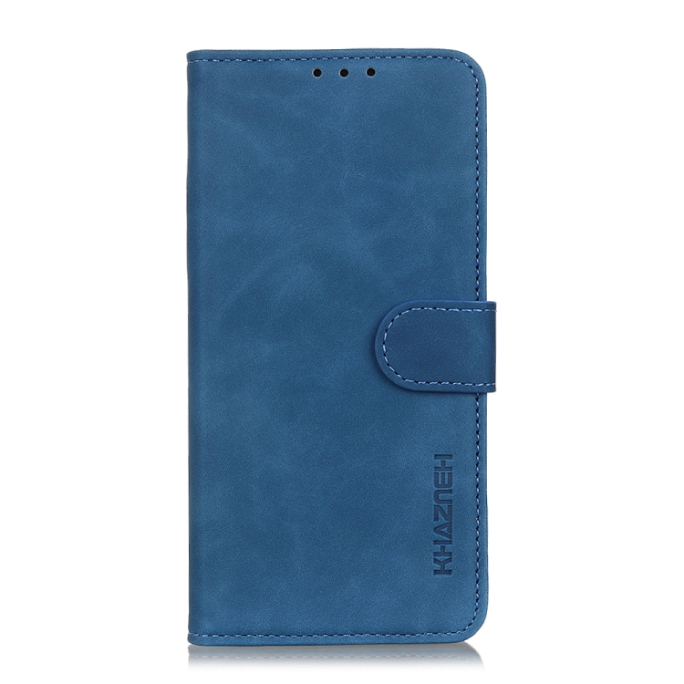 Чехол-книжка KHAZNEH Retro синего цвета на Xiaomi Poco X3 Pro