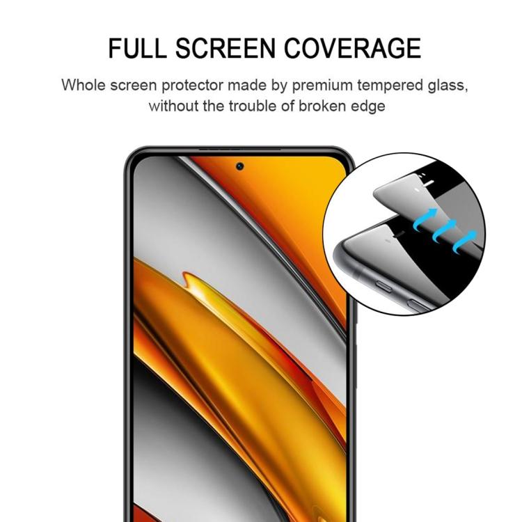 Защитное стекло 3D Full Glue Full Screen для Ксяоми Ми 11i/Poco F3/Redmi K40/K40 Про - черный