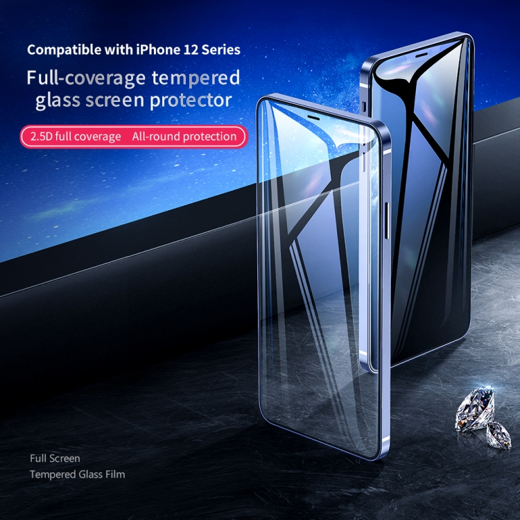 Защитное стекло ROCK  HD Full Screen для iPhone 12 mini