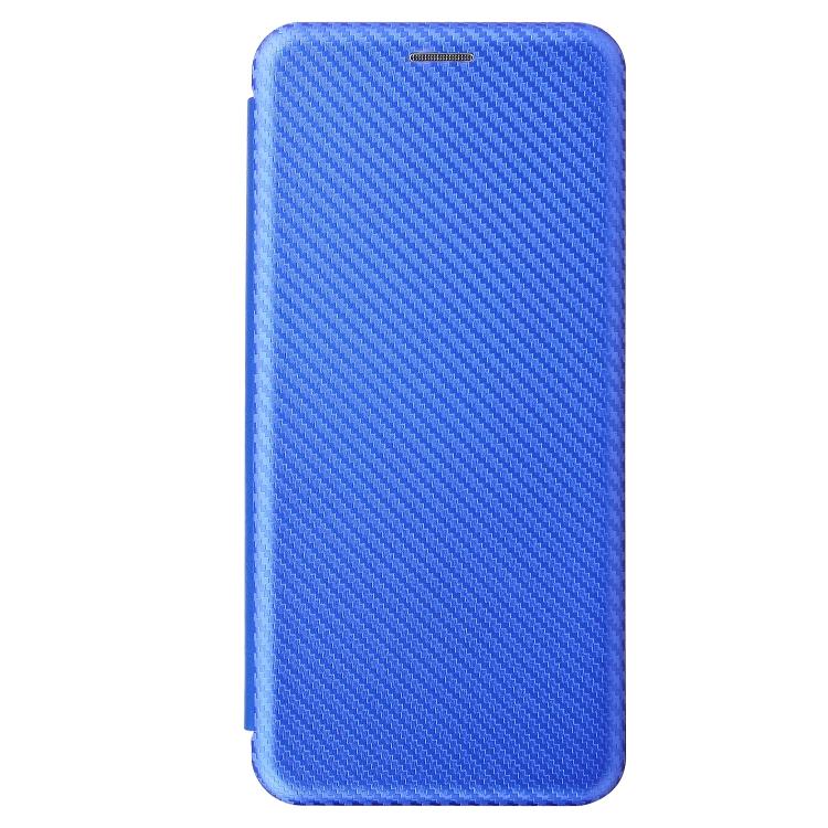 Синий чехол-книжка Fiber Texture на Samsung Galaxy S21 Ultra