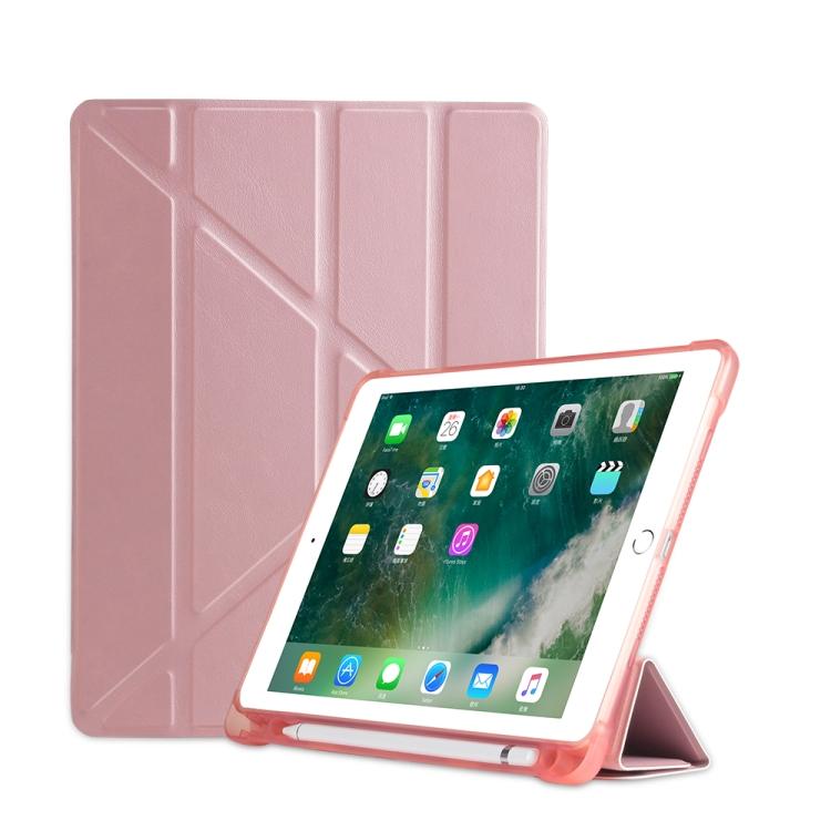 Чехол- книжка Multi-folding для iPad 9.7 (2018) / 9.7 (2017) / air / air2 - розовый