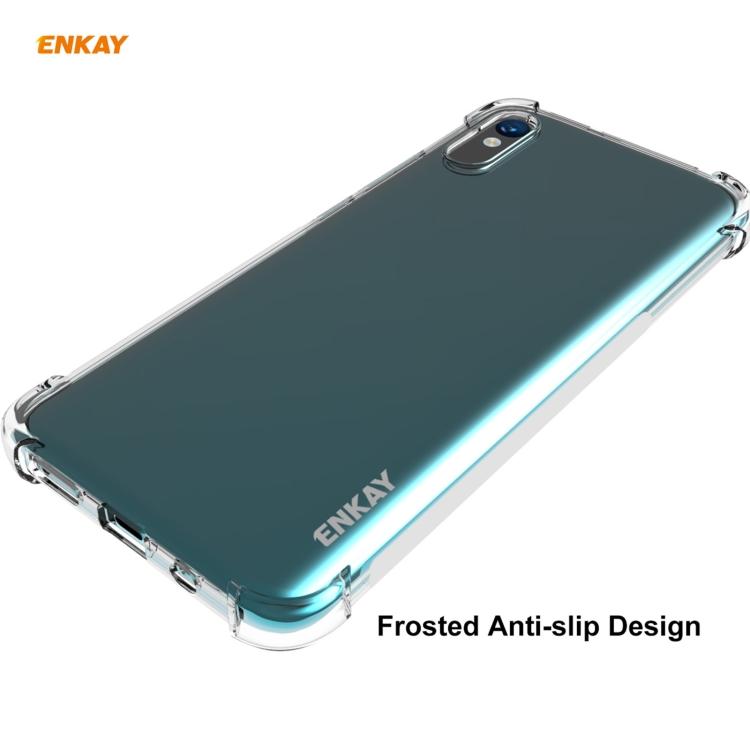 Защитный чехол ENKAY Clear + стекло 0.26mm 9H 3D Full Glue на Ксяоми Редми 9A - прозрачный