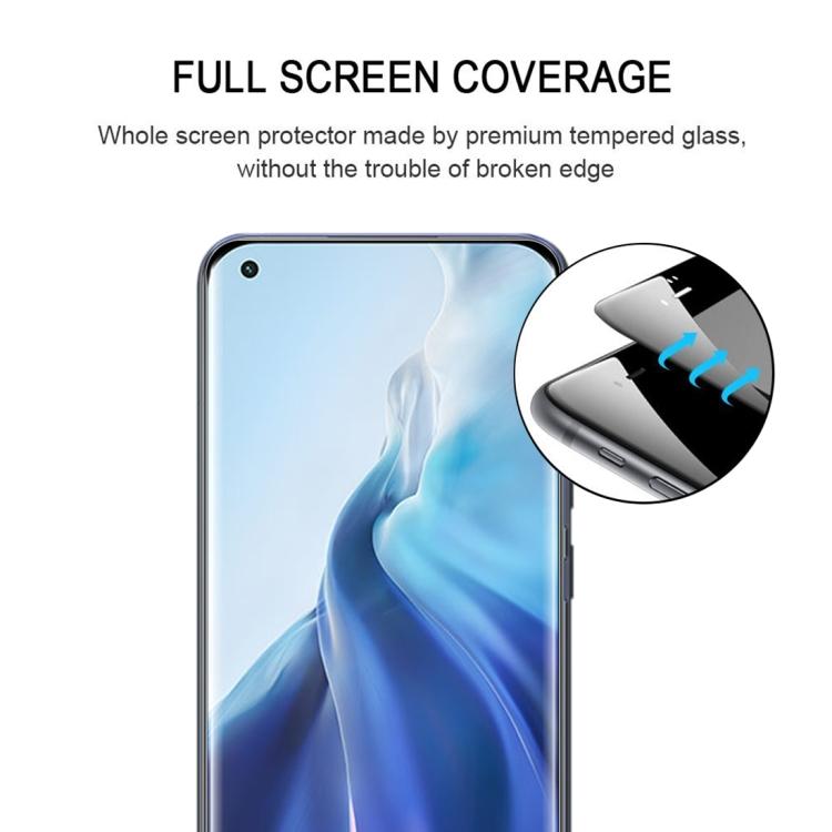 защитного стекла 9H HD 3D Curved на  Сяоми Ми 11 Ультра