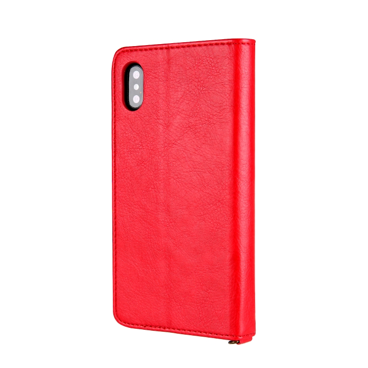 Чехол-книжка CMai2 Kaka Series для iPhone XS / X - красный
