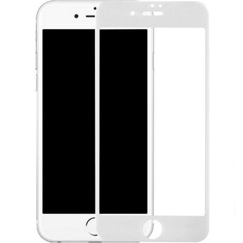 Защитное стекло на Apple iPhone 7 plus / 8 plus - с белым ободком