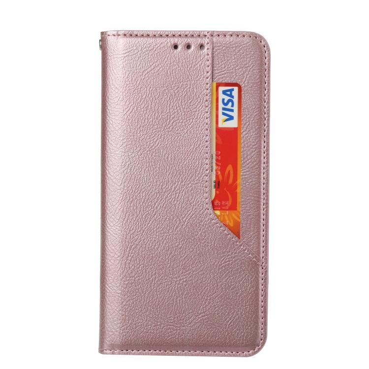 Чехол-книжка HMC Magnetic для Xiaomi Redmi Note 10 - розовое золото