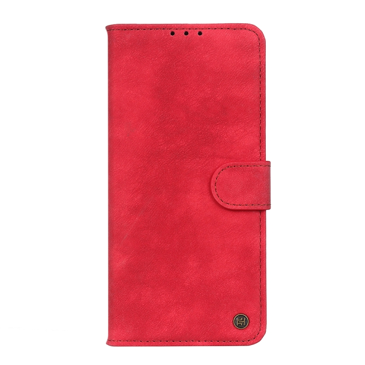 Кожаный чехол-книжка для Redmi Note 10 Pro красный