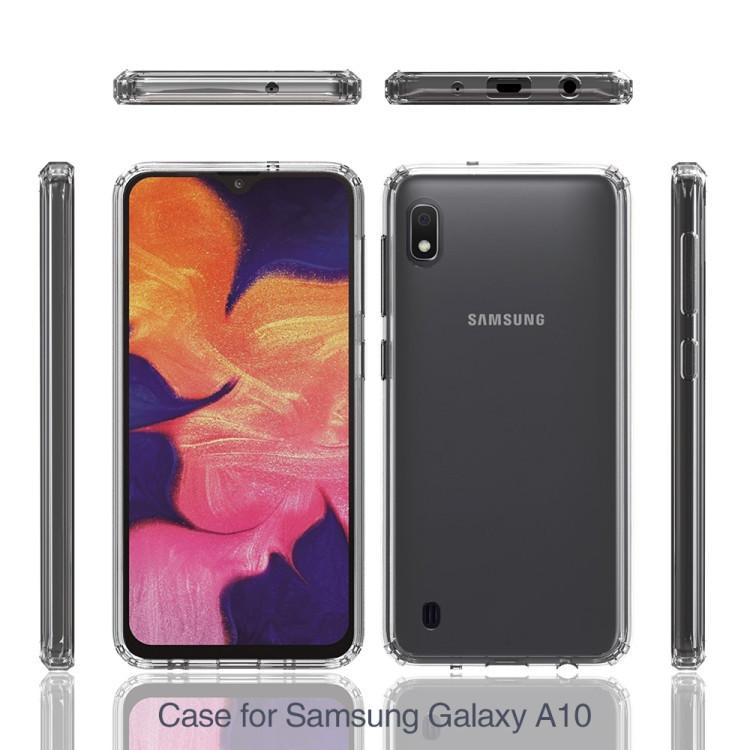 Противоударный чехол HMC Acrylic Protective Case на Samsung Galaxy A10-черный