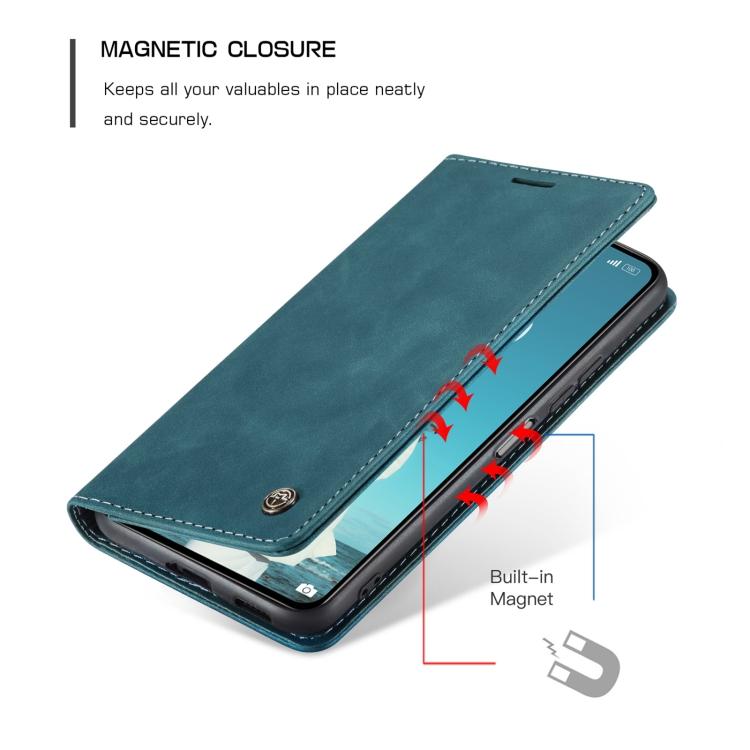 Чехол-книжка CaseMe 013 Series для Ксяоми Ми 11 Lite - синий