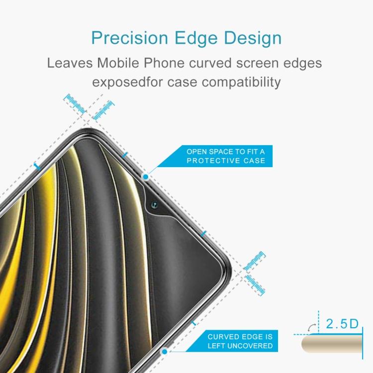 Защитное стекло 0.26mm 9H 2.5D на Xiaomi Poco M3