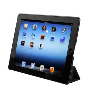 2 в 1 Черный Чехол Smart Cover Sleep / Wake-up + Накладка на заднюю панель для iPad 4 / New iPad (iPad 3) / iPad 2