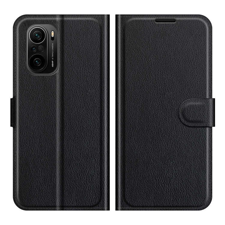 Чехол-книжка черного цвета для Xiaomi Mi 11i/Poco F3/Redmi K40/K40 Pro
