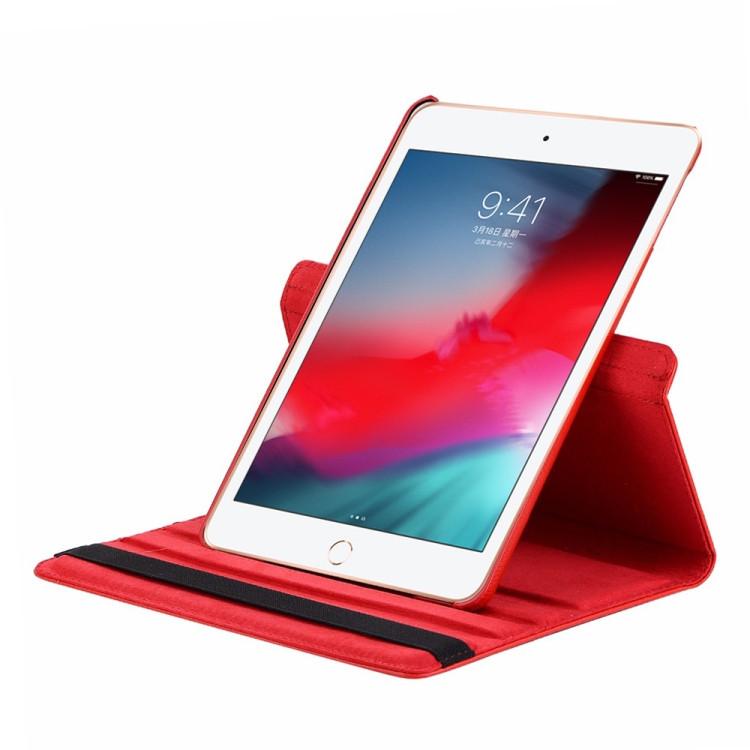 Кожаный Чехол 360 Degree Litchi Texture на iPad Mini 5 (2019)/ Mini 4 -фиолетовый